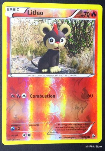 Litleo 18//106 Reverse Holo English Pokemon XY Hellfire