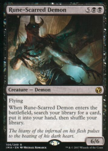 Rune-Scarred DemonNMIconic MastersMagic MTG