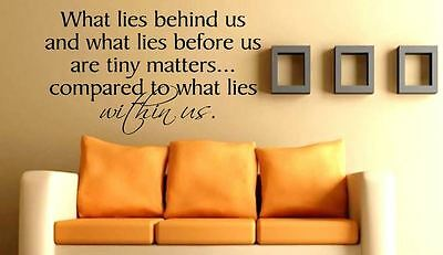 Big Inspirational Wall Quote niq36 Motivational Quote What Lies Behind Us