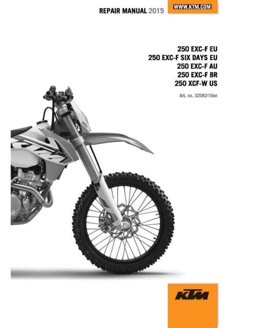 Ktm Service Workshop Shop Repair Manual Book 2015 250 Xcf