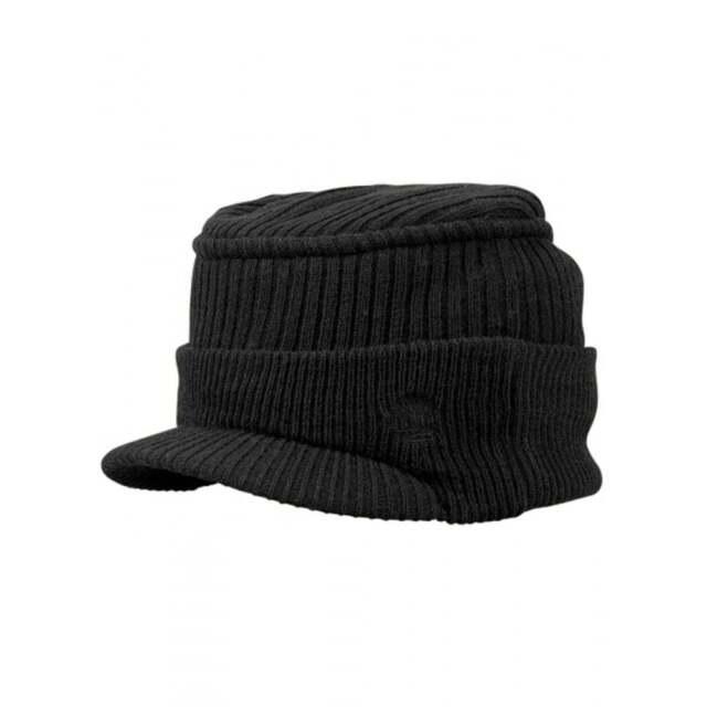 Timberland Peak Beanie Hat Black Logo to Front A17VV 100% Genuine BNWT