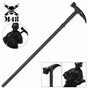 38-034-M48-Kommando-Survival-Tactical-Combat-Battle-Axe-Blade-Hammer-Hiking-Staff