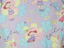 Women's Strawberry Shortcake Themed Scrub Top 3XL Custard Flowers Cute Cuddly