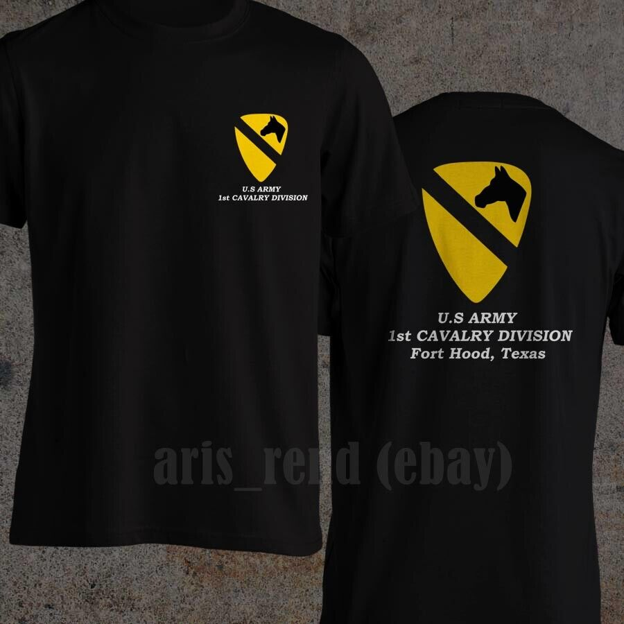 Usa 1st Cavalry Division Tactical Military T-Shirt Army Solid Cotton Top