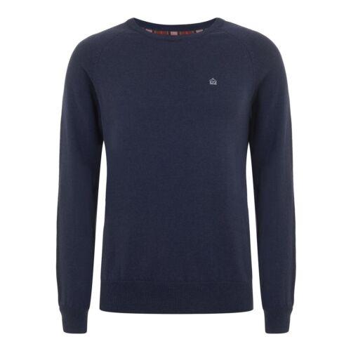 Da Uomo Merc London Fashion Maglia BERTY-Blu Navy