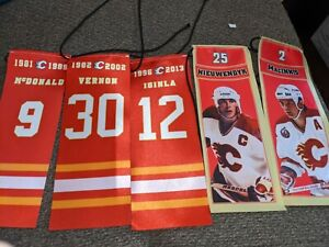 Calgary Flames Complete Set of Retirement Banners
