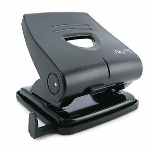 Rapesco-Hole-Punch-2-Hole-Punch-30-Sheet-Capacity-All-Metal-Construction-Black