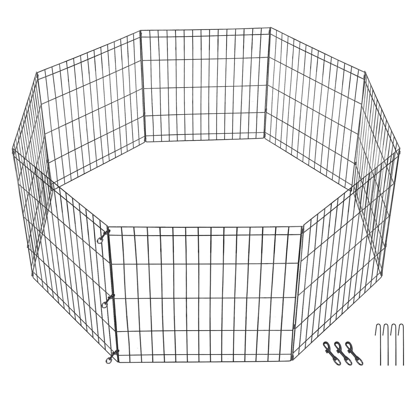 Puppy Panels 8 Outdoor Metal Protable Dog Fence