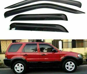Window-Visors-For-Ford-Escape-2007-2008-2012-Smoke-color-rain-guard-deflectors