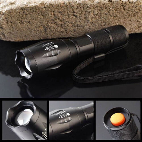 8000LM XM-L T6 LED Flashlight Zoomable Waterproof+18650 Battery+Charger FT