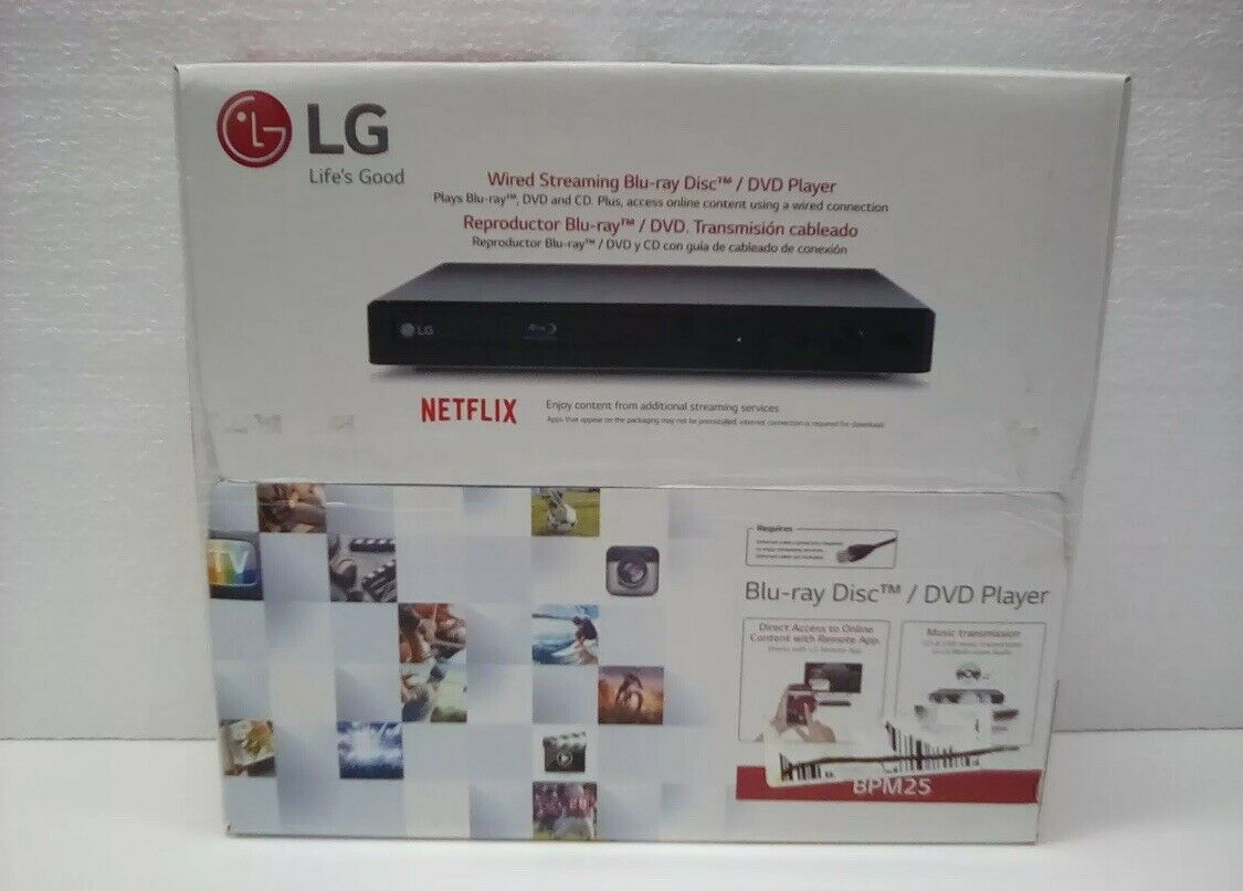 LG Blu-ray Player with Streaming Services - BPM25  - New Opened Box box new opened player services streaming with