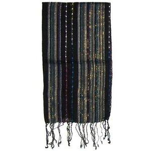 Sciarpa-indiana-tessuta-Lurex-colore-nero-170x28-cm-in-viscosa