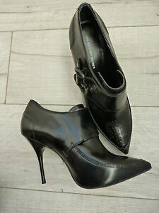 Kg 8 Eu Down Closing Stiletto shine Boots Black Leather Uk Hi Sale 41 rrP6xF