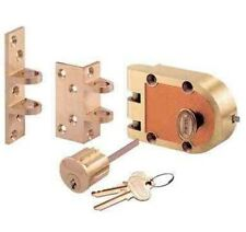 Jimmy Proof Deadbolt lock, Solid Brass, Single Cylinder With key entry #1303
