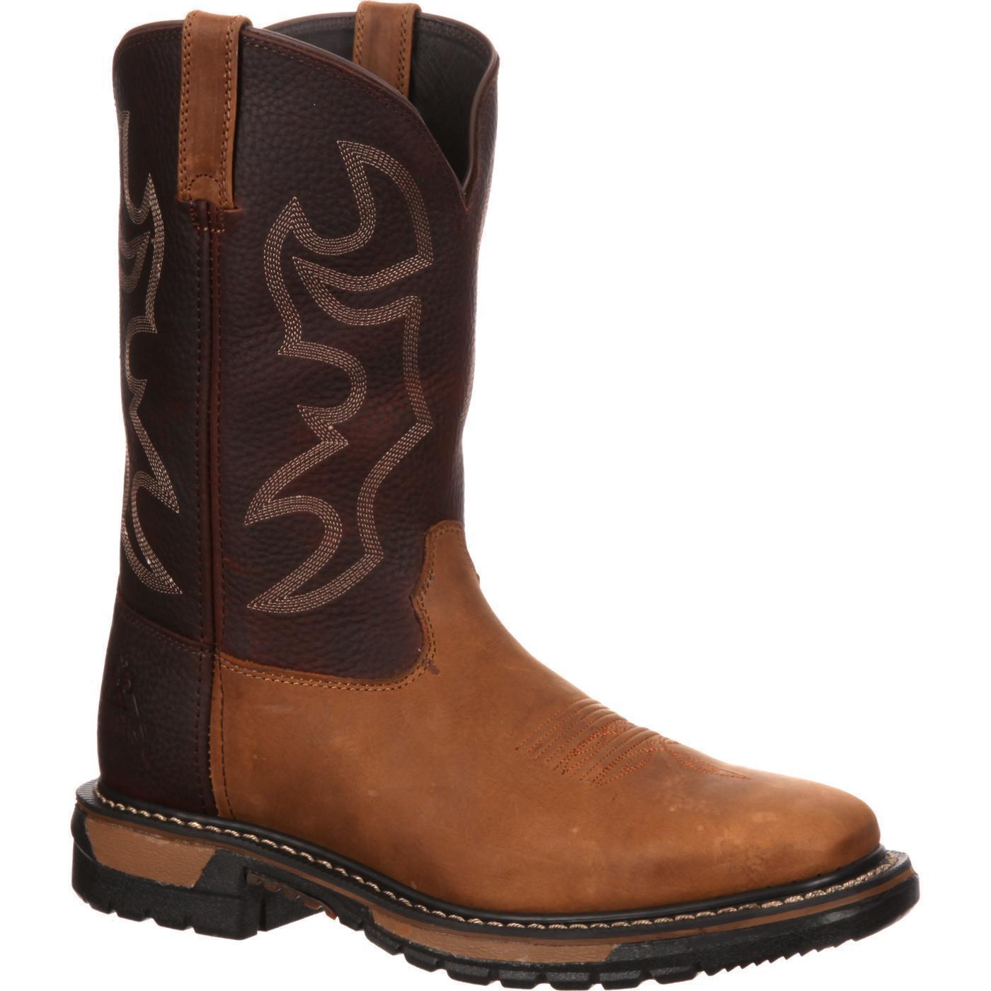 qualità garantita Rocky RKYW037 RKYW037 RKYW037 Original Ride 11  Square Toe Leather Pull On Western Work stivali  acquista la qualità autentica al 100%