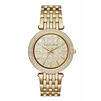 NEW MICHAEL KORS MK3398 LADIES GOLD DARCI WATCH - 2 YEAR WARRANTY