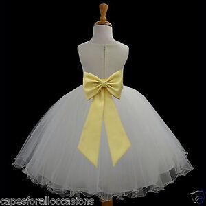 IVORY-FLOWER-GIRL-DRESS-PAGEANT-T-LENGTH-WEDDING-BRIDAL-12m-18m-2-4-6-6X-8-10-12
