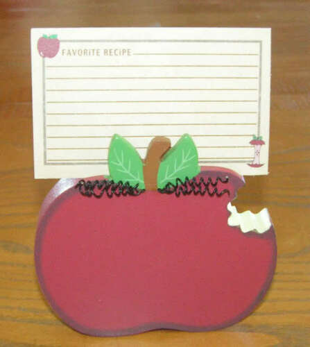 SCOTT/'S LOVE YOU TO THE CORE RECIPE CARDS /& HOLDER APPLE TEACHER/'S PERFECT GIFT
