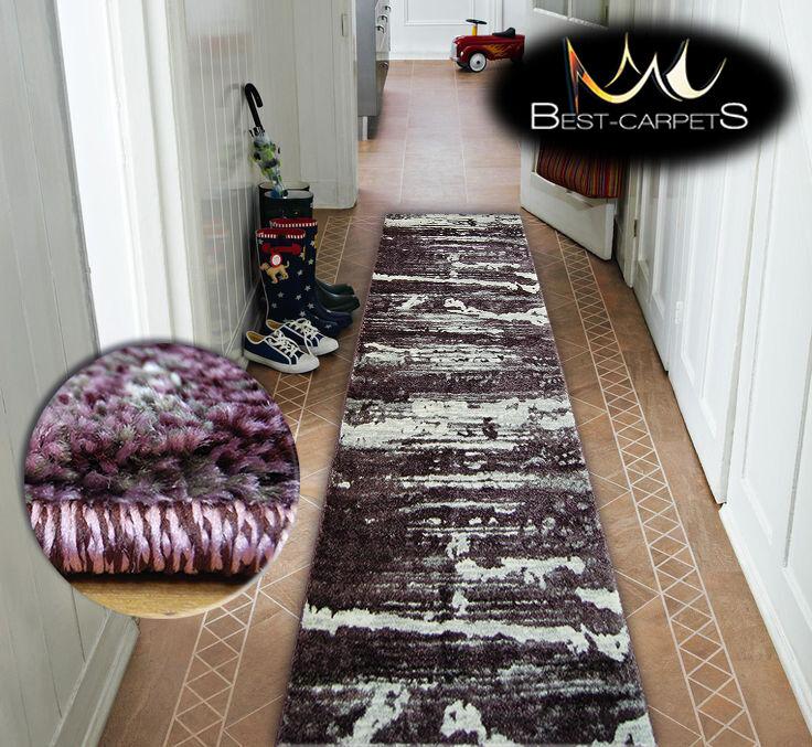 Très épais hall runner shadow 9368 largeur 70-120cm extra extra extra long soft densément rugs   En Vente  7afac6