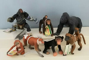 Papo-Bullyland-AAA-Safari-Model-Toy-Animal-Figurines-Apes-Monkeys-Group-of-7