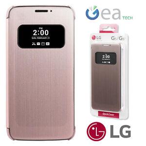 etui-Rapide-Couverture-Original-LG-Pour-G5-H850-Housse-Fenetre-Rose-Pink-CFV-160