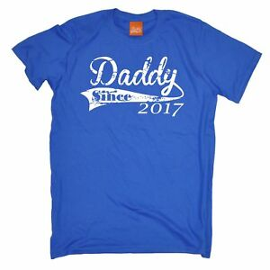 8be06a4a Daddy Since 2017 MENS T-SHIRT Tee fathers gift dad father present ...