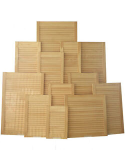 Single-Louvre-doors-clear-pine-knot-free-slatted-cupboard-Free-Hinges-amp-Screws