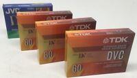 Lot Of 4 Sealed Dvc 60 Min Mini-dv Digital Video Camera Tapes Tdk Jvc Minidv