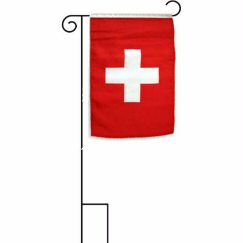 """12x18 12/""""x18/"""" Switzerland Sleeved w// Garden Stand Flag"""