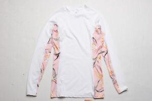O Neill Women Side Print LS Rash Guard (S) White 191015025260  52ccf0390