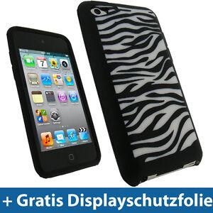 Schwarz-Silikon-Tasche-Skin-fuer-Apple-iPod-Touch-4G-Gen-4te-8-32-64gb-Huelle-Case