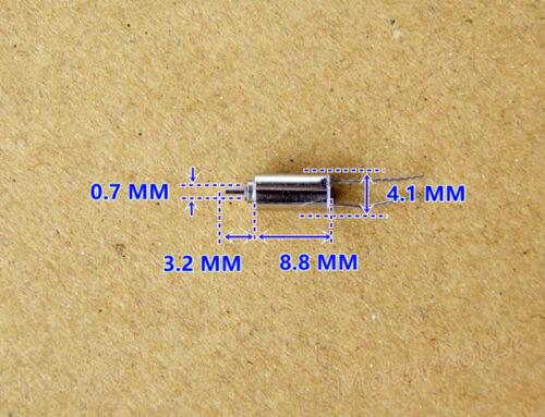 5PCS 4mm*8mm DC 3V 70000RPM Ultra High Speed Micro Tiny Coreless Mini 0408 Motor