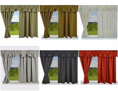 Caravan Curtains Totalmente Forrado Listo Hecho Calidad hecha a medida Gratis P P
