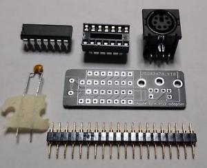 Apple-II-II-europlus-PS-2-keyboard-adapter-DIY-kit-QWERTZ-QWERTY-AZERTY-PS2