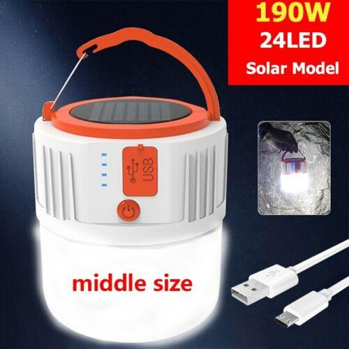 LED Solar Lamp Light Bulb Remote Control Night Light Outdoor Camping Lantern