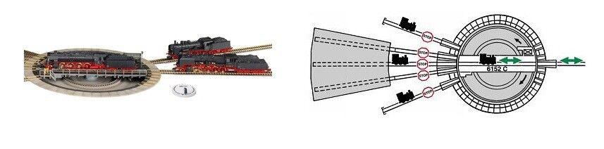 Fleischuomon 6152 h0 Profi-Piattaforma girevole elettrica, a partire dal dal dal 7,5 ° binario divisione ergänzbar 88c7d9