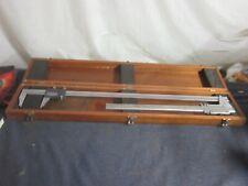 2 Brown Sharpe 26 Vernier Precision Caliper 571 Amp Also 123 Both In Wood Case