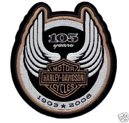HARLEY DAVIDSON 105TH ANNIVERSARY LOGO PATCH