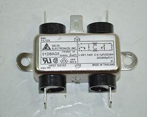 Delta 01DBAG5 115/250V 1A 50/60 HZ EMI Filter Lot of 4