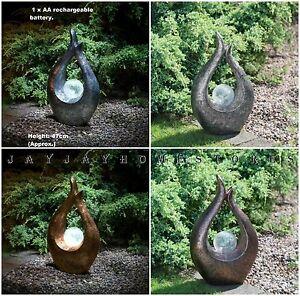 Vintage-energie-solaire-jardin-sculpture-avec-belle-solaire-crackle-ball-47cm