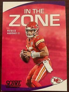 2020 SCORE - IN THE ZONE INSERT  Mahomes  Kansas City Chiefs #15