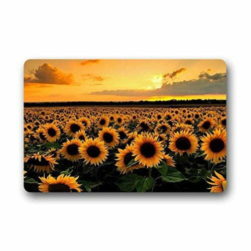 Homie Design Door Mats Sunshine Sunflower Outdoor Indoor Rubber