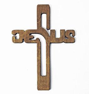 Details About Jesus Sign Wood Cross Jesus Christ Jesus Gift Jesus Decor Wooden Jesus Wall Art