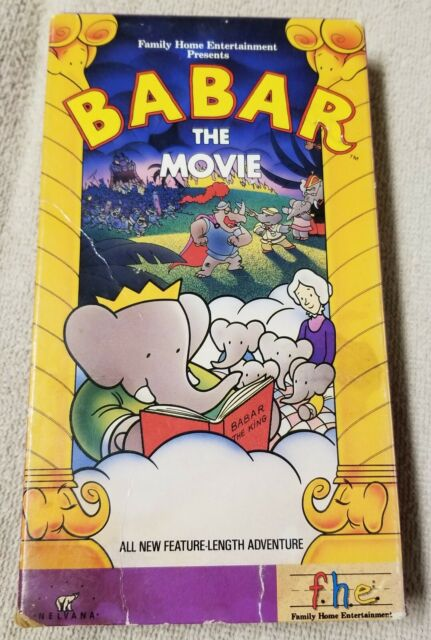 Babar The Movie Vhs Video Tape Animated Elephant 1989 Nelvana Ellipse Fhe Vgc For Sale Online