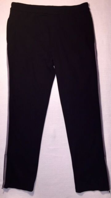 NWOT James Perse Black Cotton Blend Ankle Zips Track Pant 3/L 36W/ 31 Ins