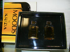 MOODS uomo KRIZIA originale VINTAGE SET REGALO Eau Toilette 50ml+After Shave50ml