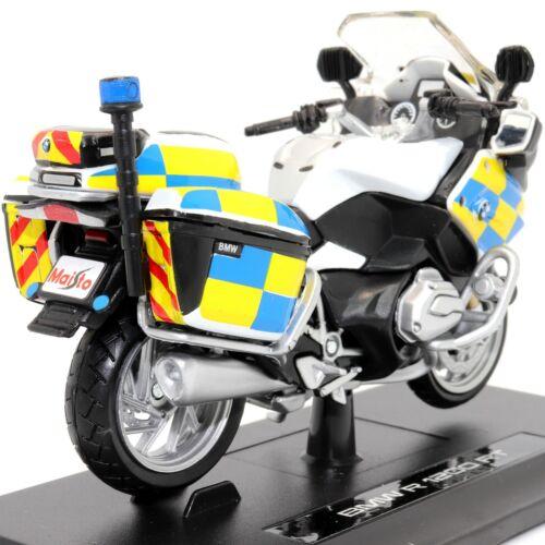 Bmw R 1200 Rt Police Modelo Escala 1:18 Die-Cast Brinquedo Motocicleta Moto Maisto