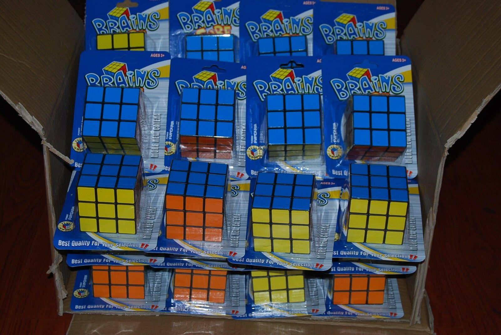 Lot Of 36pc 3x3 Brain Cube Magic Puzzle Brain Toys Gift Wholesale Free Shipping