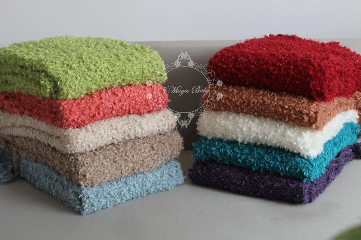 Knitted Popcorn Design Throw Rug Blanket Fringe Bed Sofa Home Decor Photo Prop