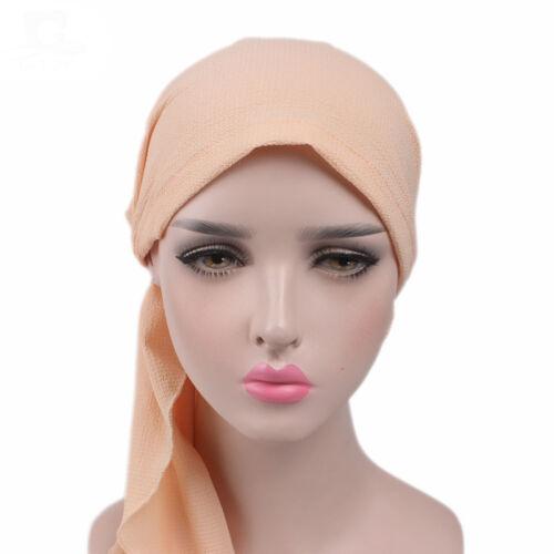 New Women Head Scarf Chemo Hat Turban Pre-Tied Headwear Bandana Tichel  Cancer